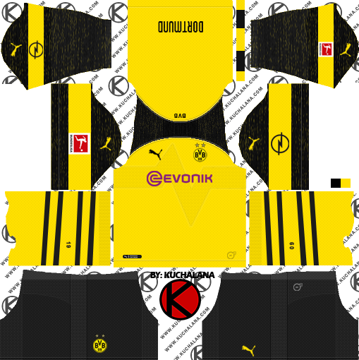 Borussia Dortmund 2018 19 Kit Dream League Soccer Kits Kuchalana