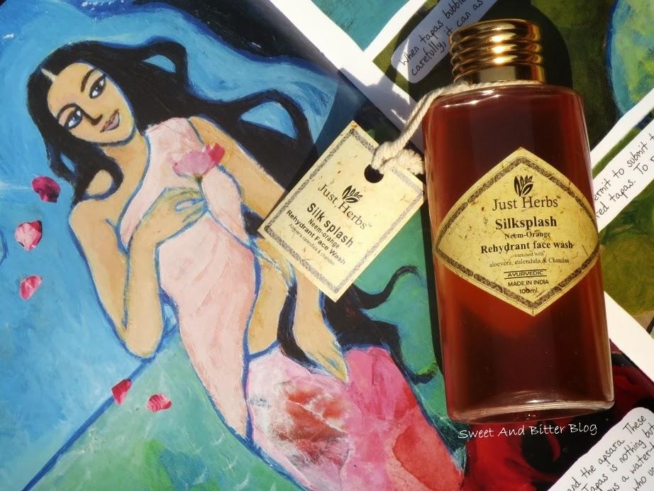 Just Herbs Silksplash Neem Orange Rehydrant Face Wash Ayurvedic India