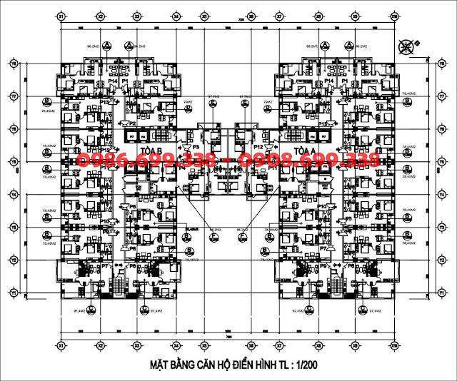mặt bằng chung cư AZ Sky Định Công