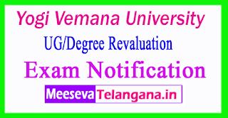 Yogi Vemana University UG/Degree Revaluation Exam Notification