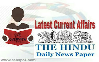 Monthly Current Affairs 2020 for SSB Interview - The Hindu