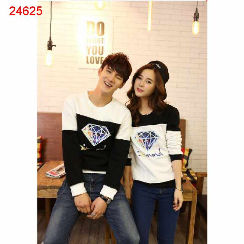 Jual Sweater Couple Sweater Diamond Blur - 24625