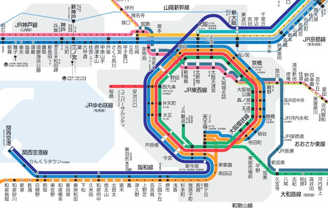 donutravel: 【關西9天自由行】第一次去大阪?先認識大阪鐵路網絡!