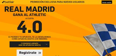 betfair Real Madrid gana Athletic supercuota 4 Liga 13 febrero
