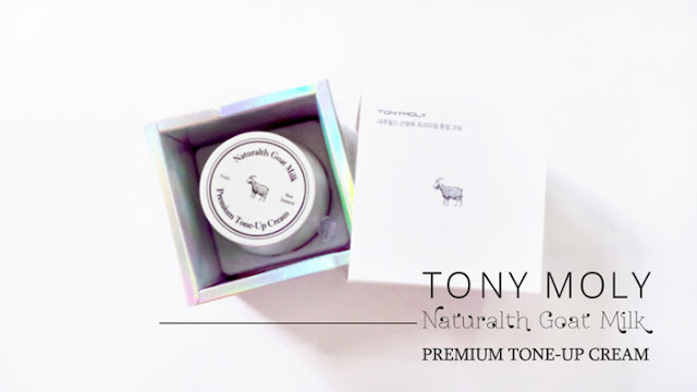 Tony Moly Naturalth Goat Milk Premium Tone Up Cream Seoul Review Korean Kbeauty Beauty