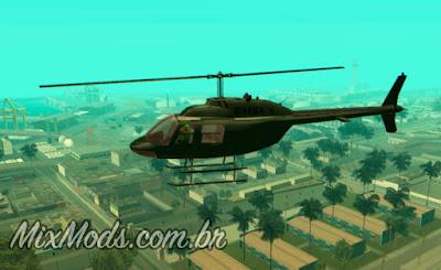 gta sa mod membro gangue pilota helicóptero