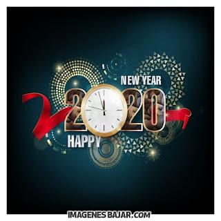 Tarjeta Nuevo año 2020 Happy new year Imágenes de Felices Fiestas. Tarjetas para enviar por WhatsApp