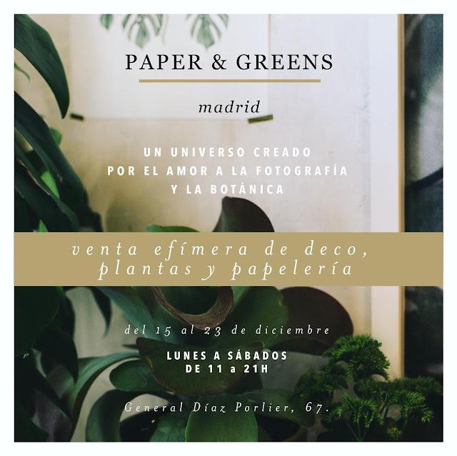 Cartel de la venta efímera Paper & Greens