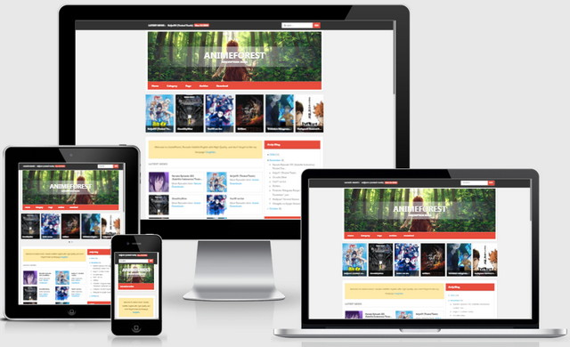 AnimeForest V2 Responsive Blogger Templates
