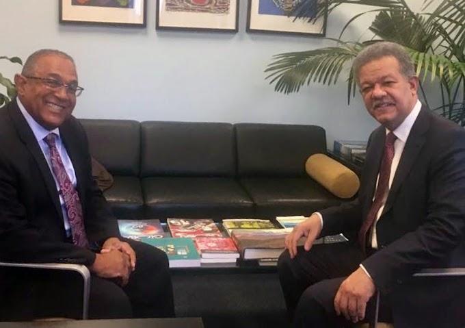 Leonel se reúne con Vargas en NY y tratan elecciones de 2020 y situación de dominicanos en el exterior