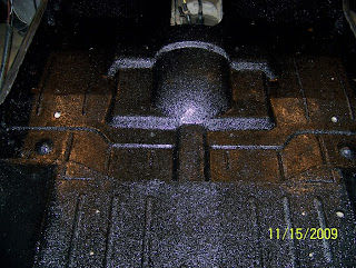 Floor pan painted with bedliner