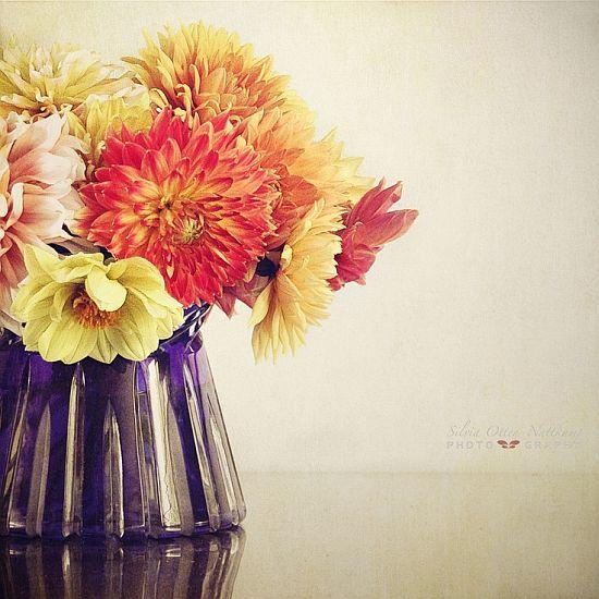 beautiful fall yellow and orange flower bouquet