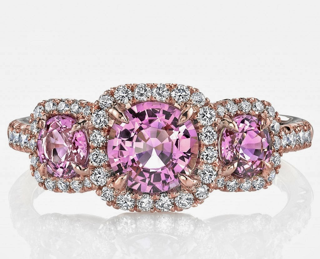 Engagement Ring : Pink Sapphire Engagement Party Rings 65