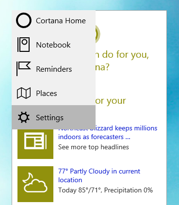Enable Hey, Cortana On Windows 10 Technical Preview Build 9926