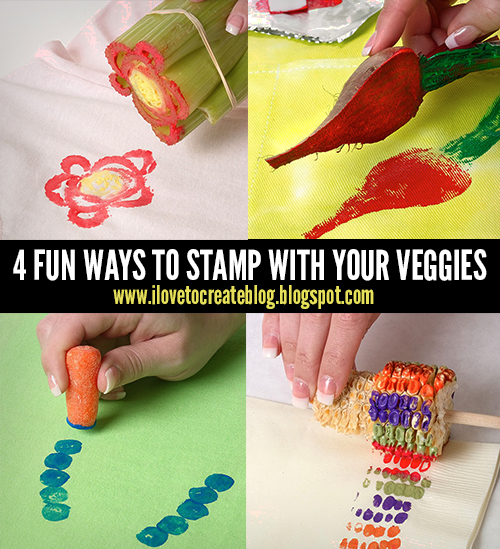 4 Fun Ways To Stamp With Your Veggies Ilovetocreate