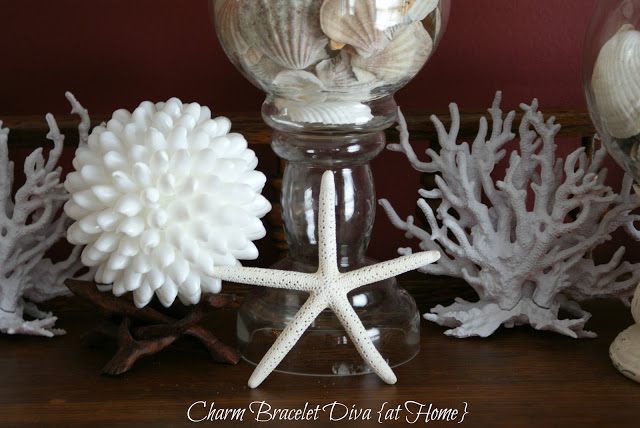 spray painted aquarium coral DIY Pottery Barn