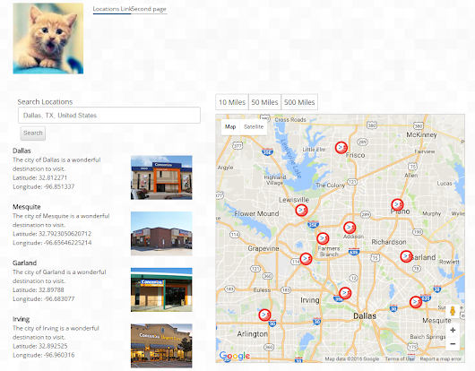 Build a Location Finder search using SXA