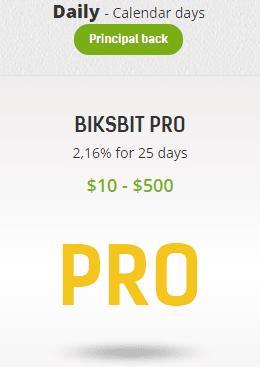 Инвестиционные планы Biksbit