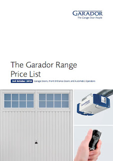 Front cover of Garador 2016 price list