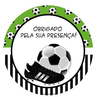 Toppers o Etiquetas de Set de Fútbol para imprimir gratis.
