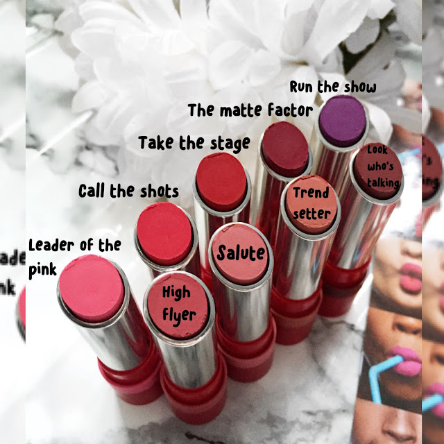 rimmel london matte lipstick swatches