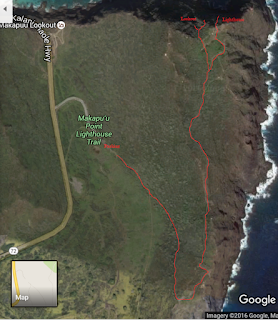 Trail map of Makupu'u Lighthouse Trail