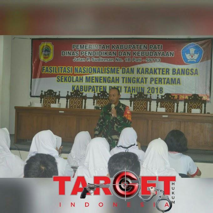Dandim 0718 Pati Memberikan Pembekalan Nasionalisme Kepada Siswa - Siswi SMP Kab.  Pati