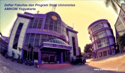 Daftar Fakultas dan Program Studi Universitas AMIKOM Yogyakarta Terbaru
