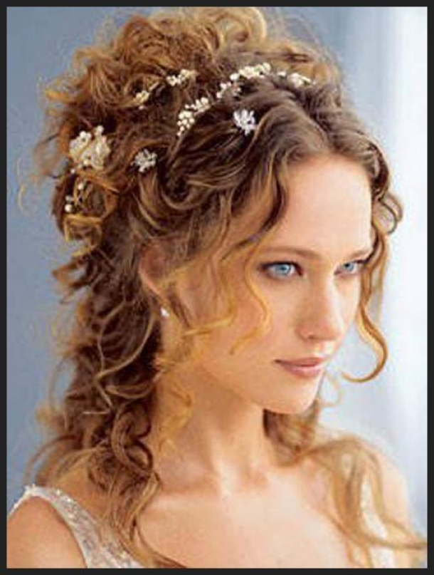 Naturally Curly Wedding Hairstyles For Long Hair