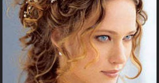 Curly Wedding Hairstyle: Hairstyle Concept: Naturally Curly Wedding Hairstyles
