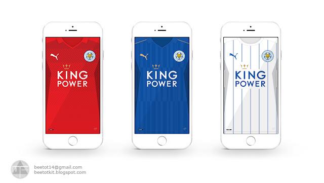 Beetot Kit: Leicester City Kit 16/17 Iphone 6 Wallpaper