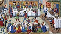 banquete en una corte medieval