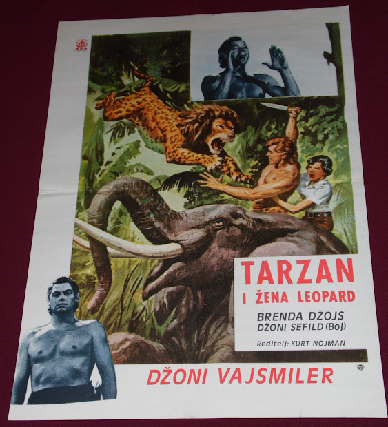 Yugorare Movie Posters Tarzan And Leopard Woman 1946