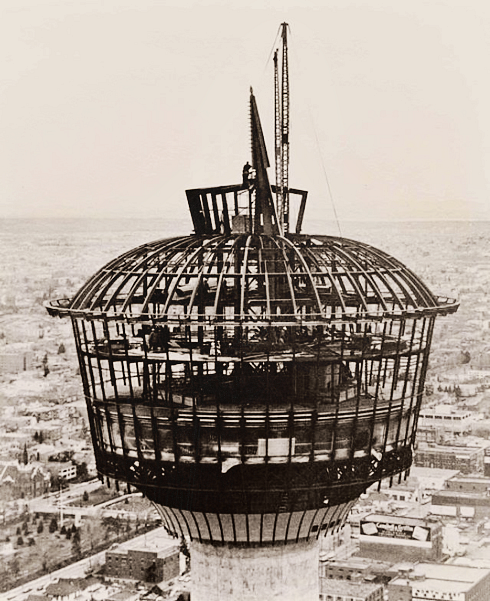 calgary tower construction 1967