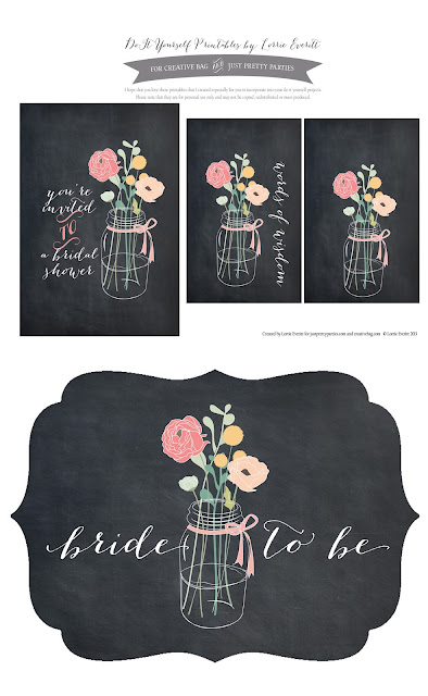 free download by Lorrie Everitt for Creative Bag and Just Pretty Parties