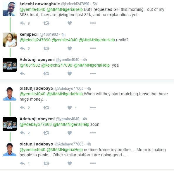 People panic as MMM Nigeria introduces 31k GH withdrawal limit