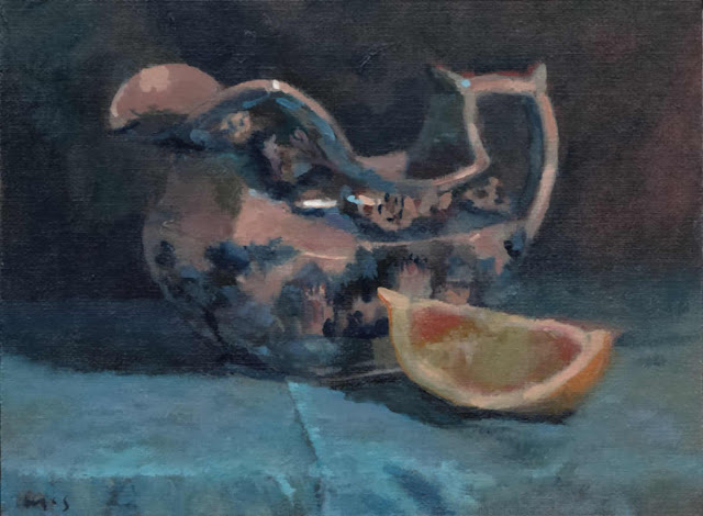 171114_36 English Jug Blue. Still Life daily painting. Kevin McSherry