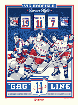 "New York Rangers ""Vic Hadfield Number Retirement"" Screen Print by Stolitron x Phenom Gallery"