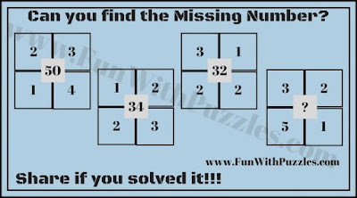 Find the missing Number Maths Brain Teaser for Kids