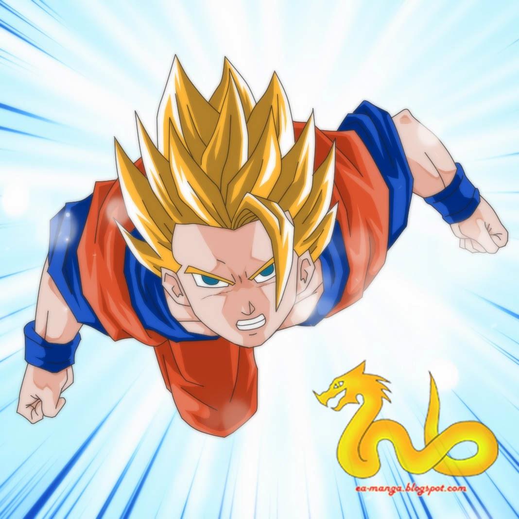 Cara menggambar son goku dragon ball z game anime terbaru - Son goku dragon ball z ...