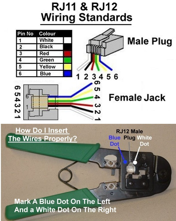 6 Wire Phone Jack Wiring - Data Wiring Diagrams