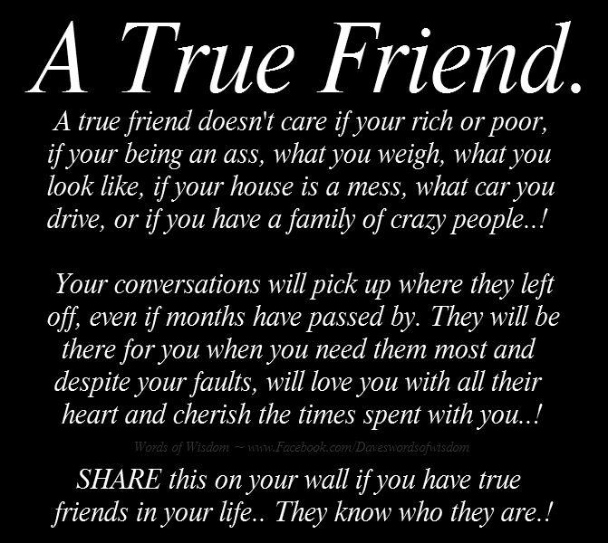 Daveswordsofwisdom.com: True Friends