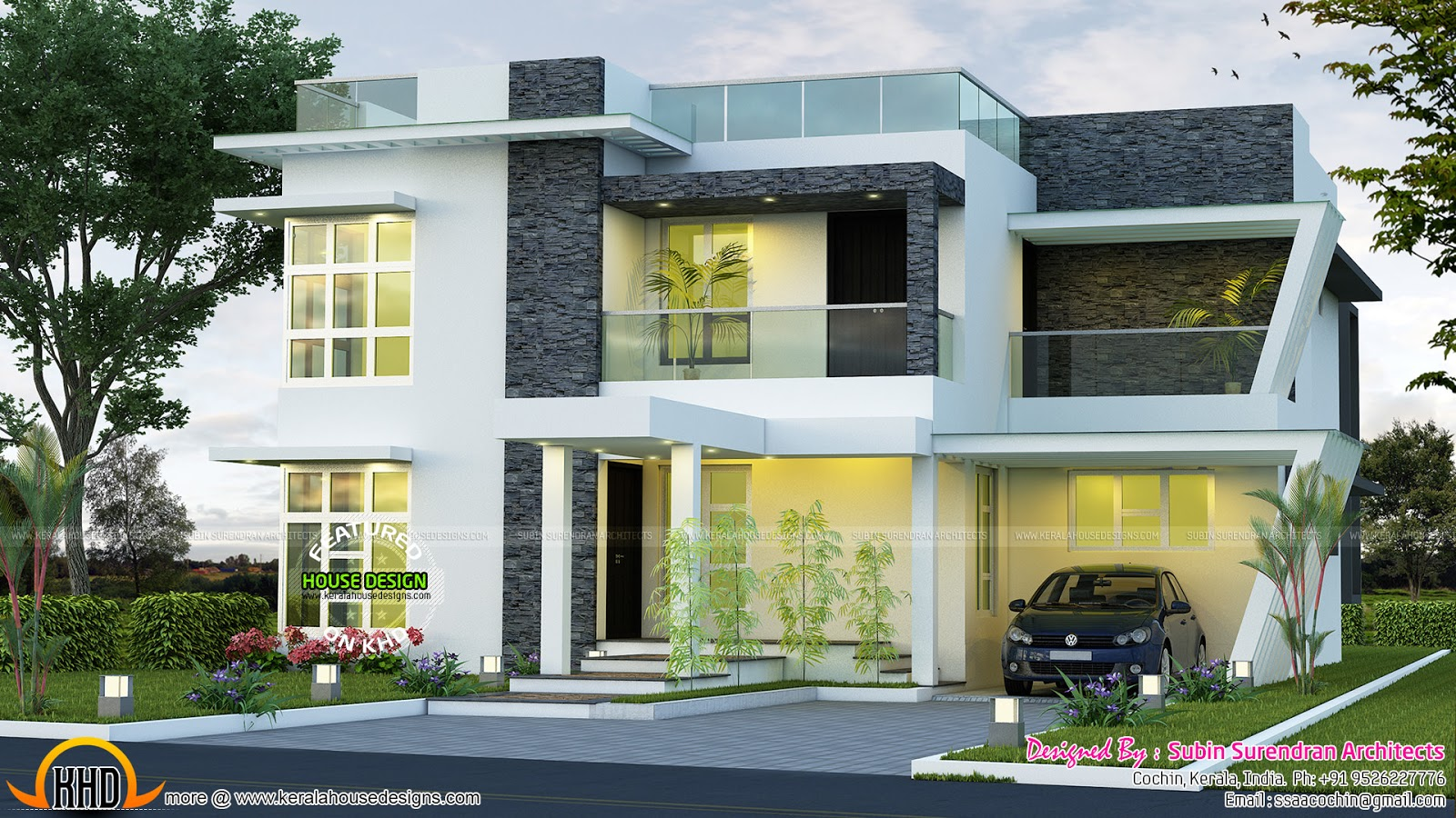 June 2016 kerala home design and floor plans for Contemporary modern style house plans