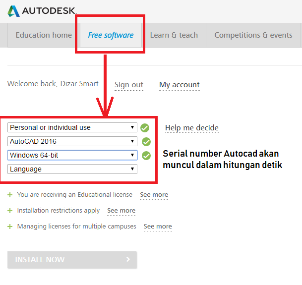 autodesk student serial number invalid