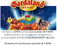 Logo OVS ti regala un buono sconto per Gardaland