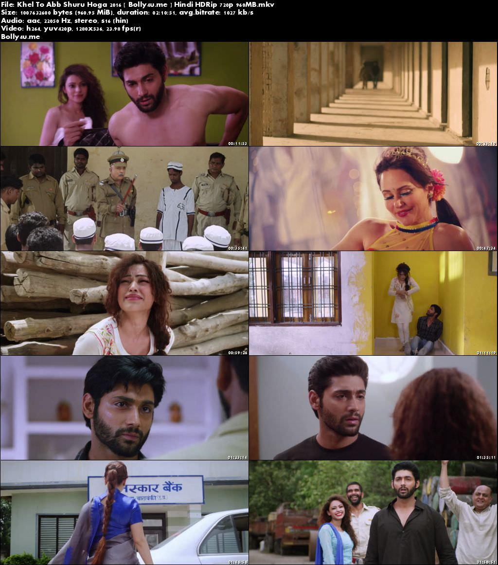 Khel To Abb Shuru Hoga 2016 HDRip 950MB Full Hindi Movie Download 720p