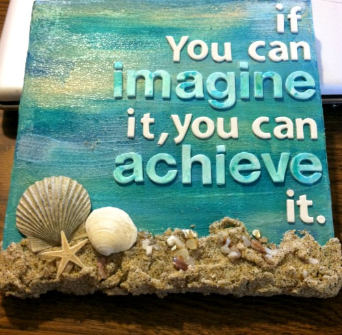 Beach Seashell Canvas Art with Quote