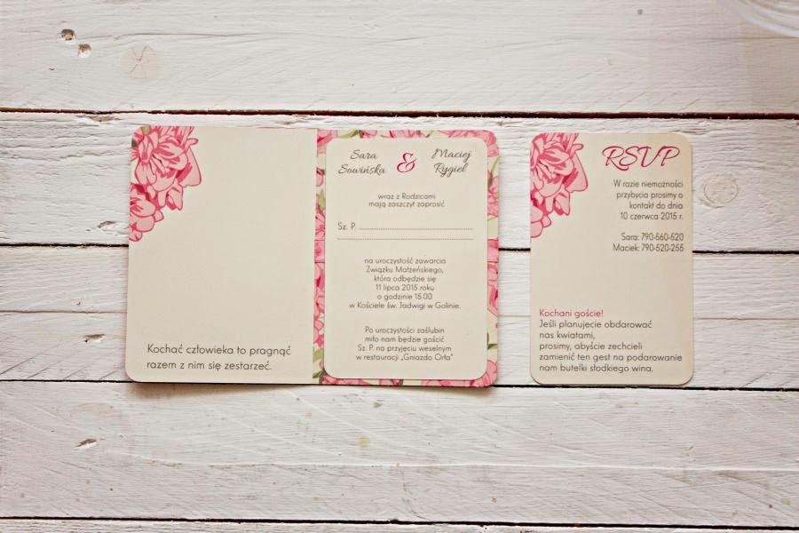 Oryginalne zaproszenia ślubne w kwiaty