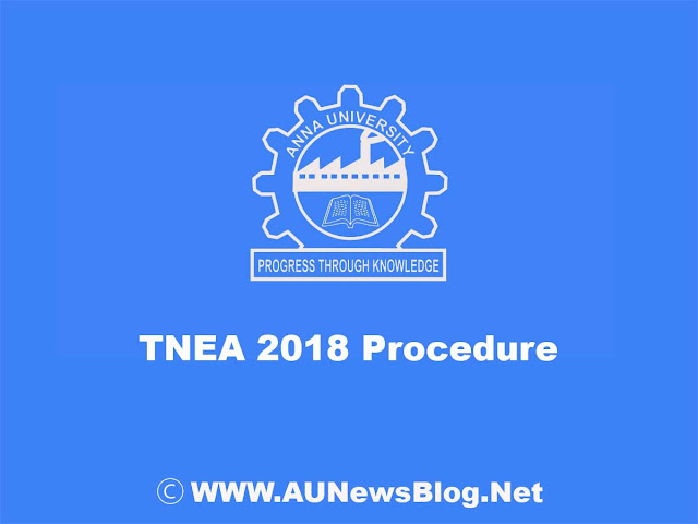 Anna University TNEA 2018 will conduct only in Online