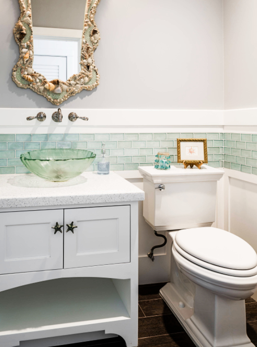 coastal bathroom sinks frosted glass